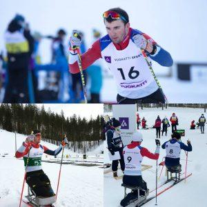 Callum sit skiing collage world cup